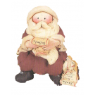 Father Christmas reading wishs letter